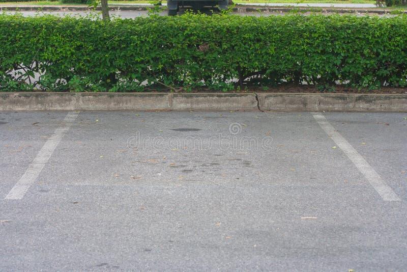 Leerer Raum im Parkplatz am allgemeinen Park stockbilder