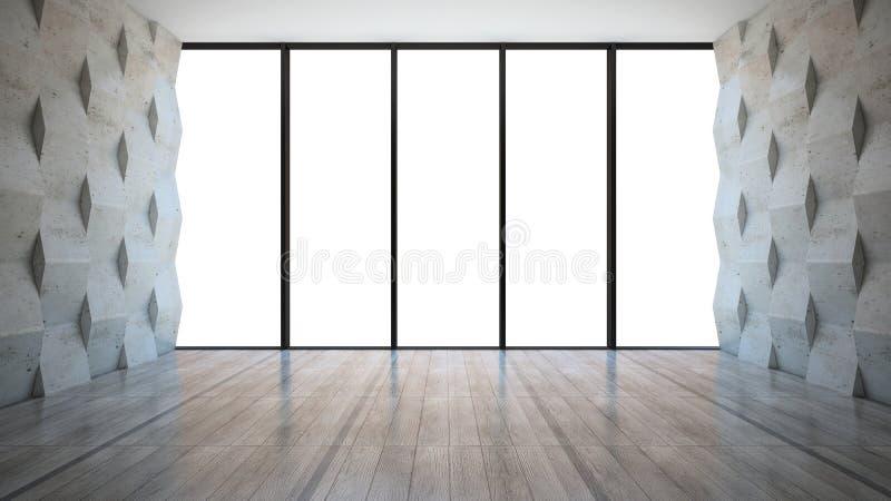 Leerer Raum mit Wänden stock abbildung