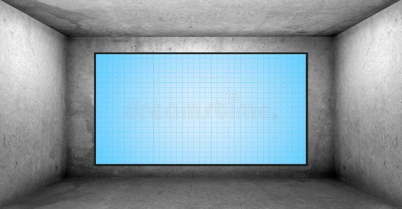 Leerer Raum mit HD Fernsehapparat vektor abbildung