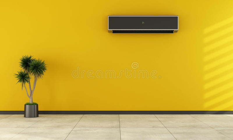 Leerer Raum mit moderner Klimaanlage stock abbildung