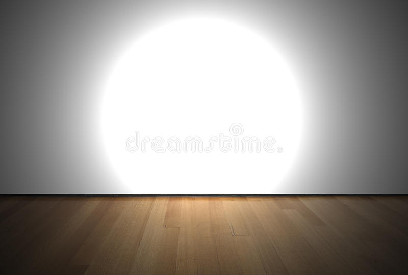 leerer raum mit scheinwerferlicht stockbild bild von parquet eiche 34204537. Black Bedroom Furniture Sets. Home Design Ideas
