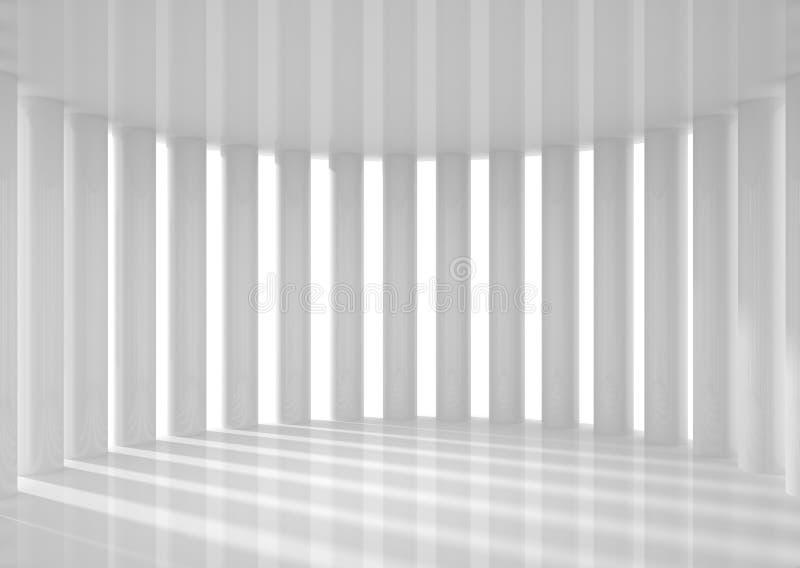 Leerer Raum mit Spalten vektor abbildung