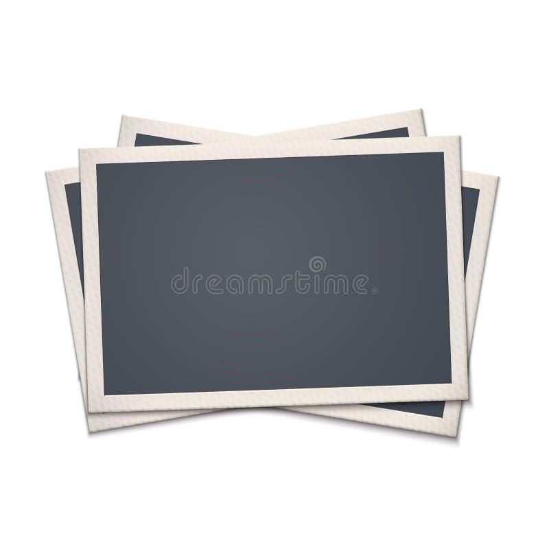 Leerer Retro- Foto-Rahmen stock abbildung