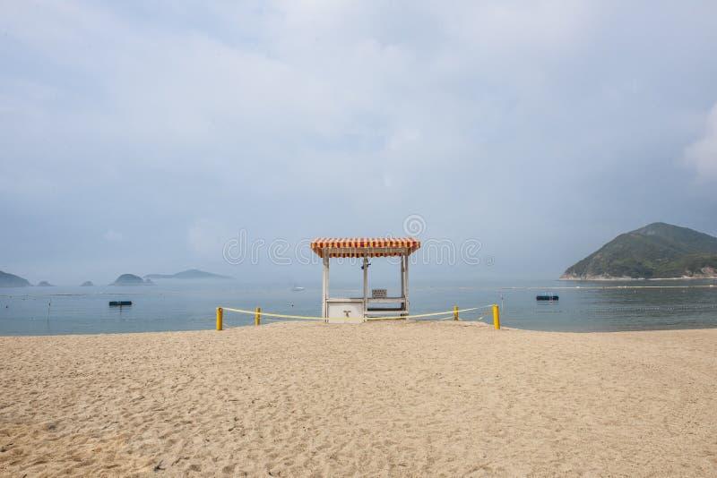 Leerer Strand in Hong Kong lizenzfreies stockfoto