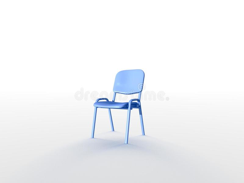 Leerer Stuhl stock abbildung