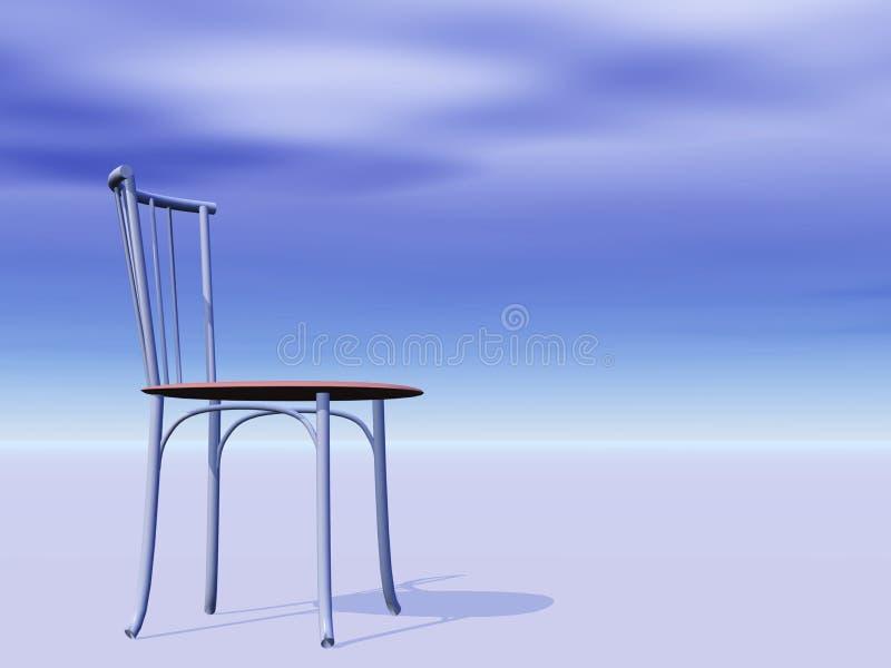 Leerer Stuhl auf dem Horizont lizenzfreie abbildung