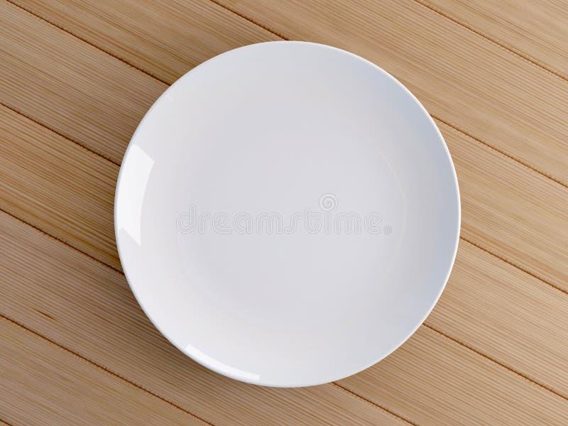Leerer Teller mit chinesischen Stöcken stock abbildung