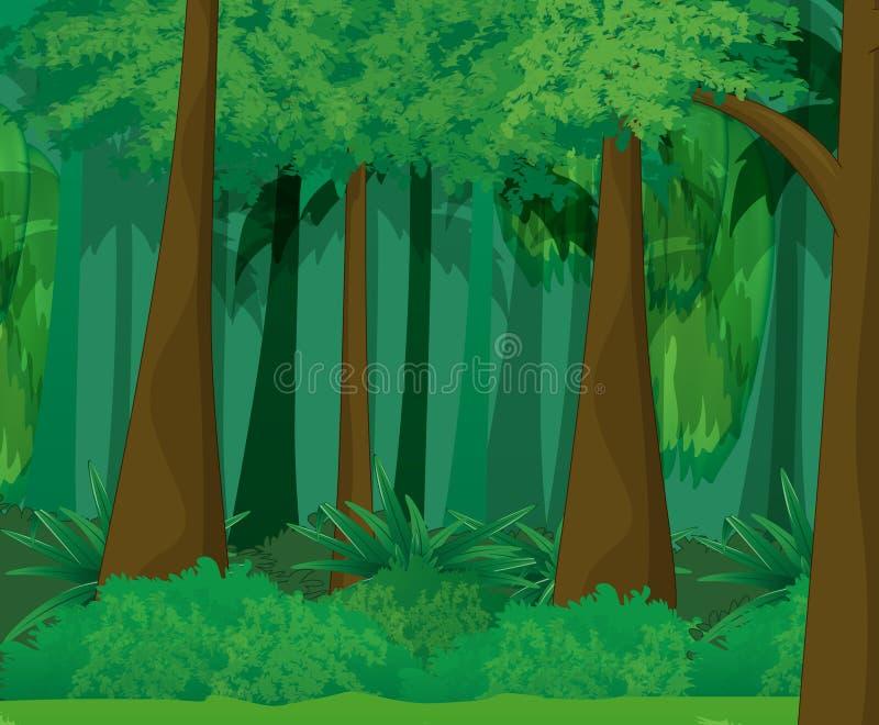 Leerer Wald lizenzfreie abbildung