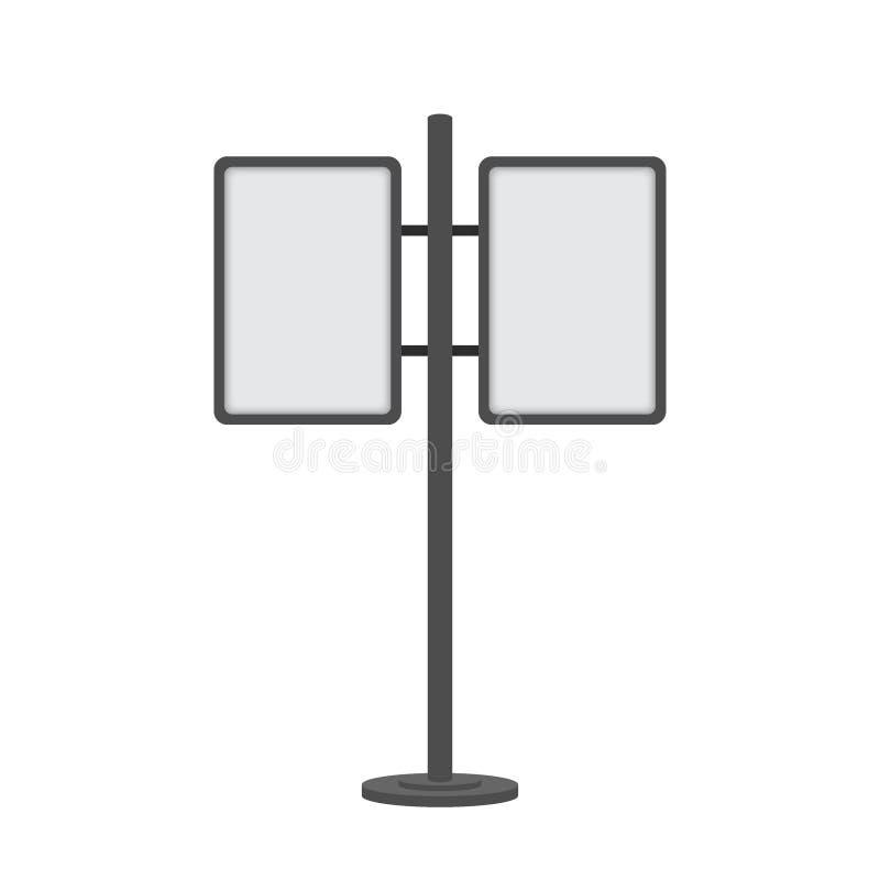 Leerer wechselwirkender Kiosk im Freien Anzeigenkioskstand, leere Modellwerbungsnote Vektorauf lagerabbildung stock abbildung