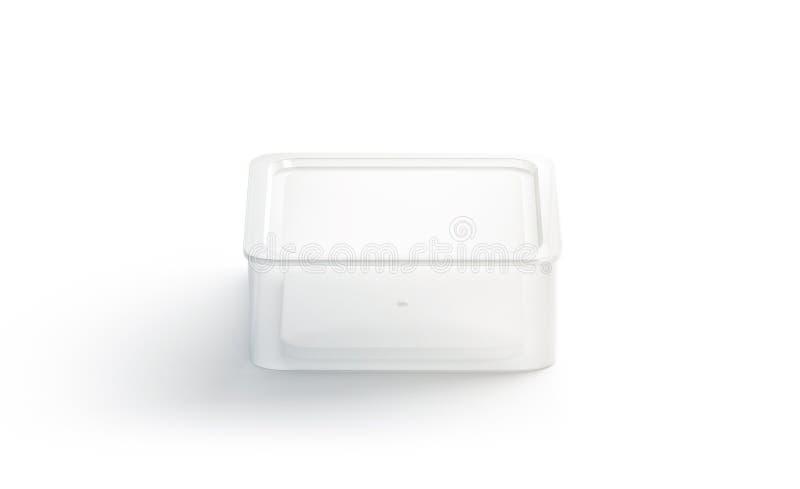 Leerer Wegwerfbehälterspott des weißen Quadrats oben lokalisiert, lizenzfreie abbildung