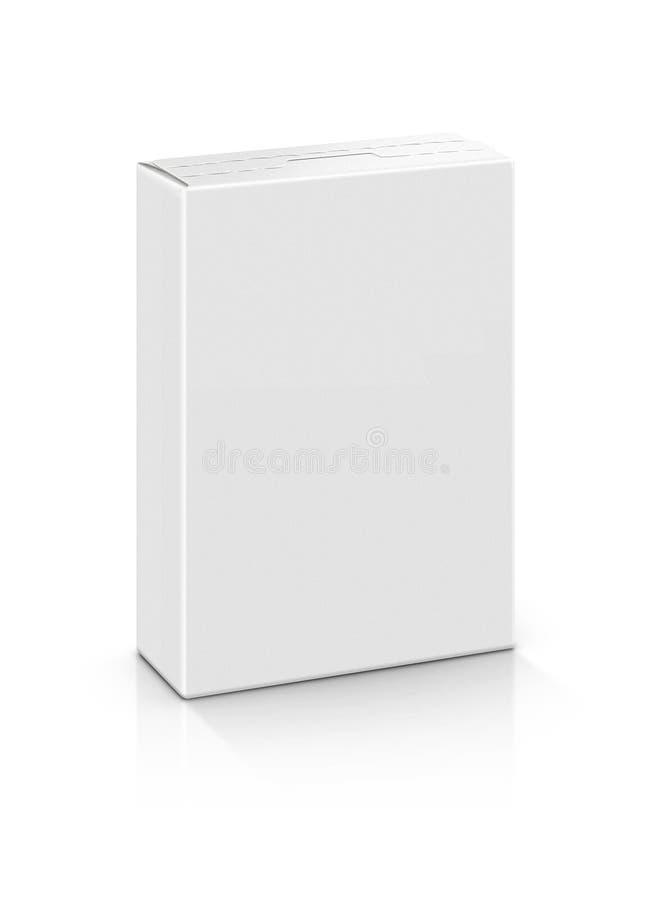 Leerer Weißbuchkasten stockfotografie