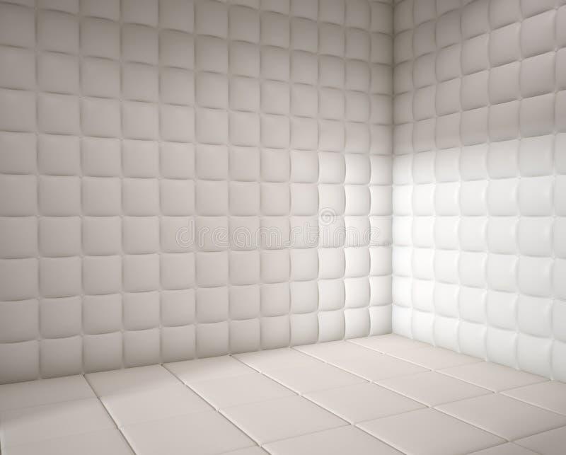 Leerer weißer aufgefüllter Raum vektor abbildung