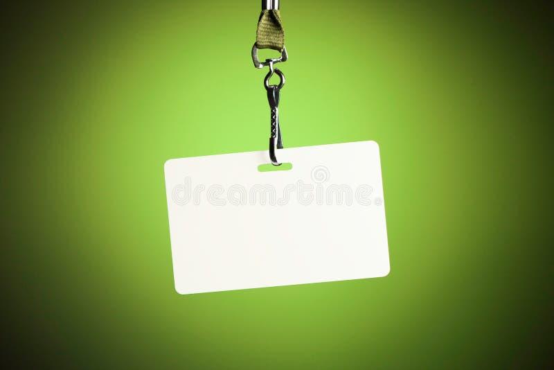 Leerer weißer Ausweishintergrund lizenzfreies stockbild
