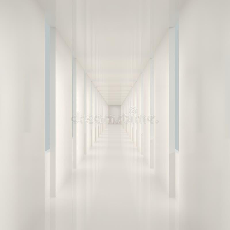 Leerer weißer Innenraum stock abbildung