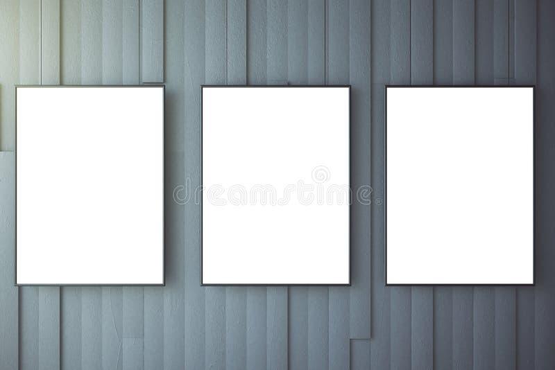 Download Leerer Weißer Poster Auf Grauer Wand Stock Abbildung    Illustration Von Galerie, Auslegung: