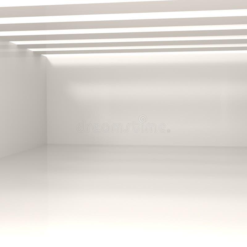 Leerer weißer Raum stock abbildung