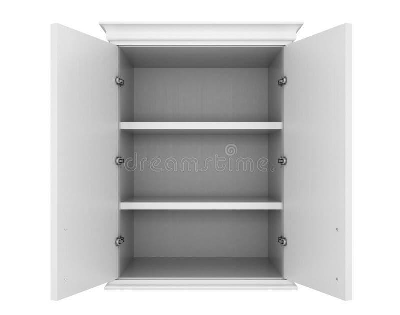 leerer wei er schrank stock abbildung illustration von sauber 83318571. Black Bedroom Furniture Sets. Home Design Ideas