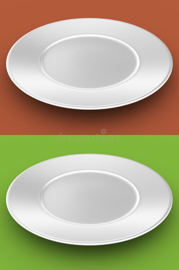 Leerer weißer Teller lizenzfreie abbildung