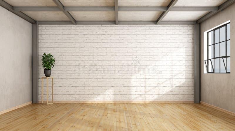 Leerer zeitgenössischer Dachboden lizenzfreie abbildung