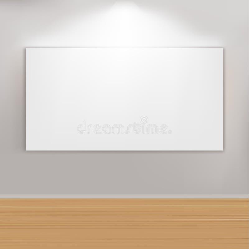 Leeres Anstrich-Feld auf Wand lizenzfreie abbildung