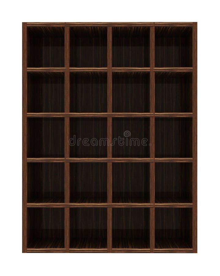 Leeres Bücherregal stockbild