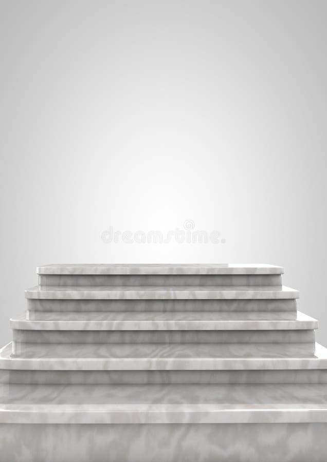 Leeres Bedienpult oder Treppenstufe stockfoto
