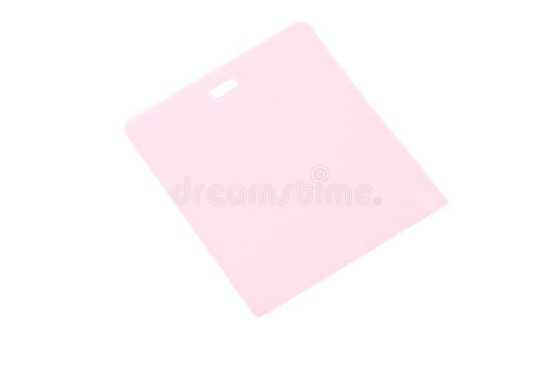Leeres bereites des rosa Aufkleberkleidungs-Umbaus zur Textwerbung stockbilder