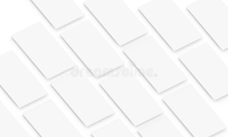 Leeres bewegliches Appschirmmodell lokalisiert stock abbildung
