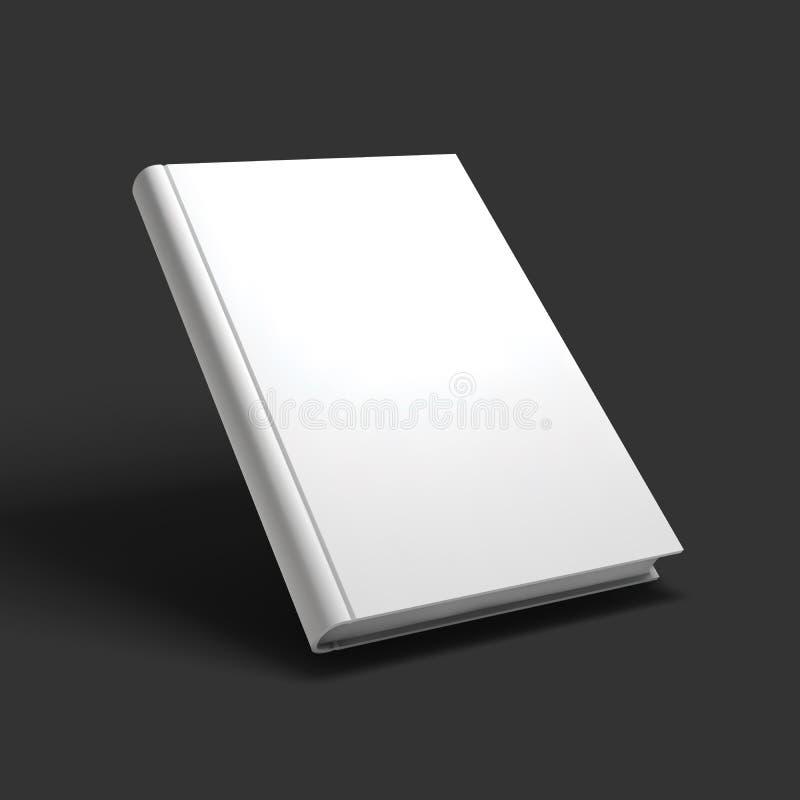 Leeres Buch-, Lehrbuch-, Broschüren- oder Notizbuchmodell lizenzfreie abbildung