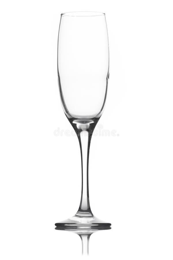 Leeres Champagnerglas stockbilder