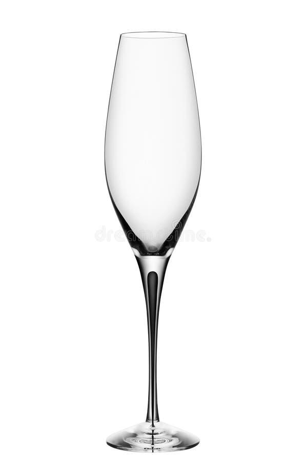 Leeres Champagnerglas stockfotos