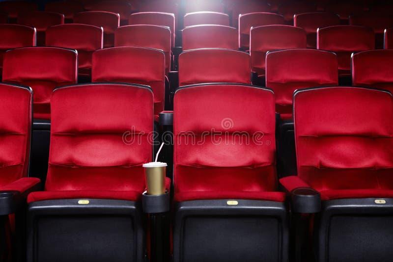 Leeres Filmtheater stockbilder