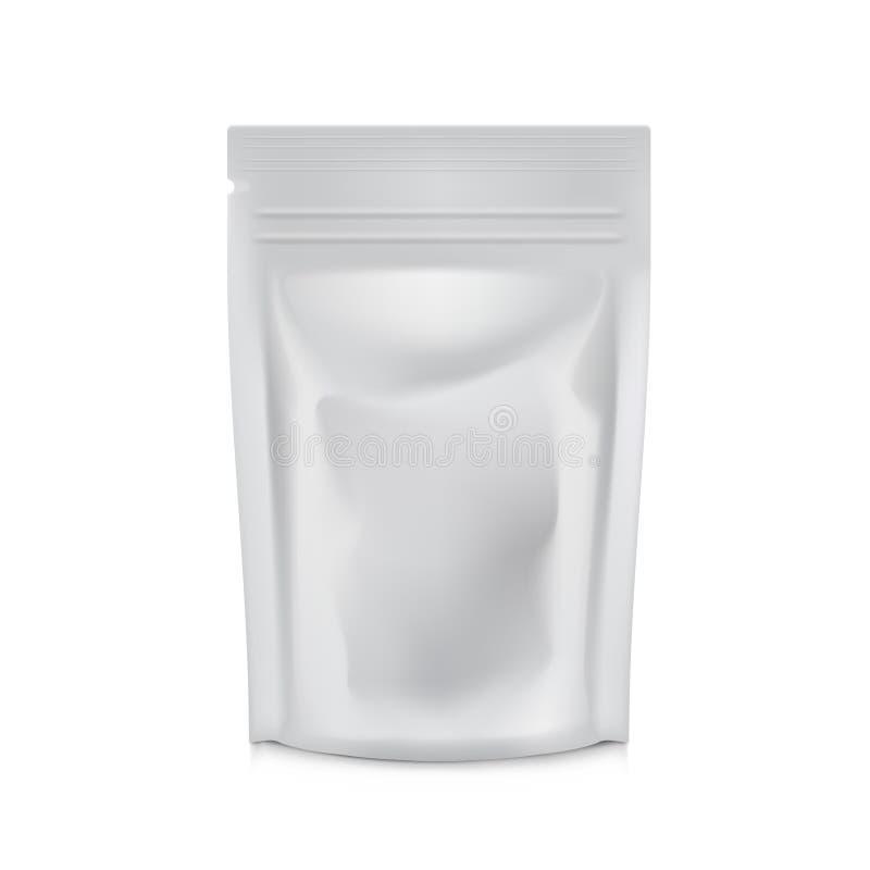 Leeres Folien-Lebensmittel oder Getränk-Taschen-Verpackung Plastikbeutel-Kaffee-oder Teebeutel lizenzfreie abbildung