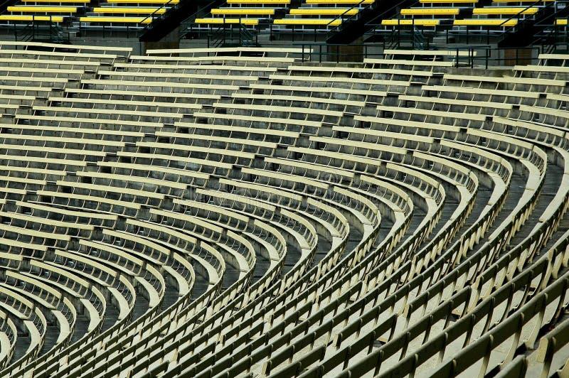 Leeres Fußballstadion lizenzfreies stockbild