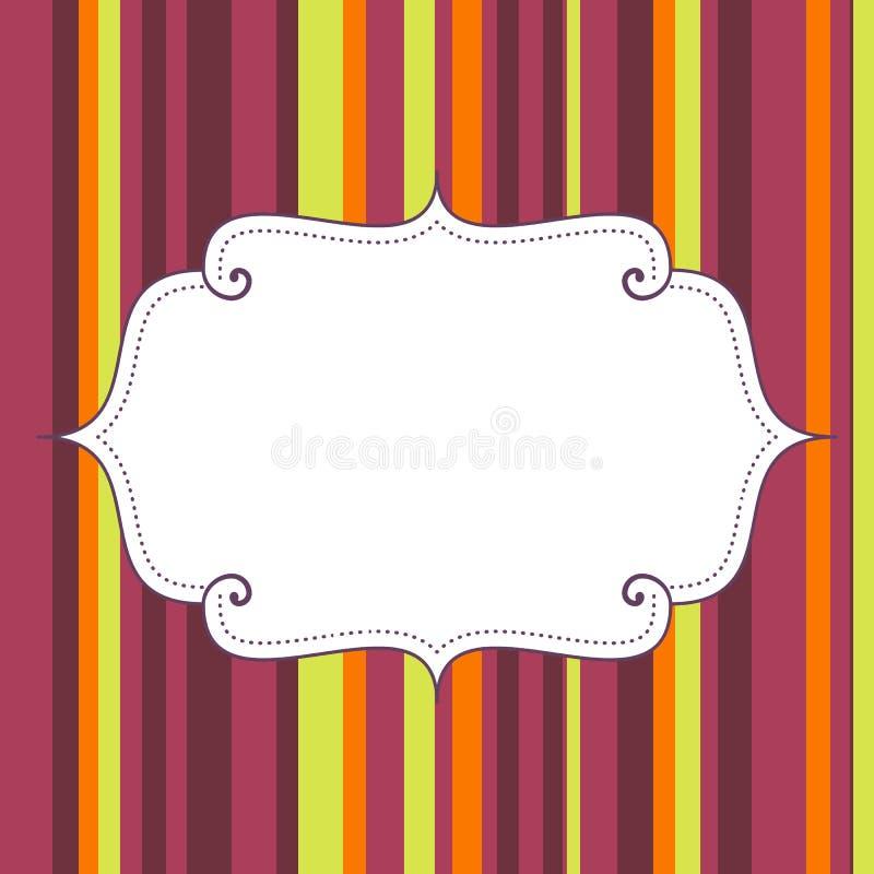 Leeres Geburtstagsplakat auf nahtlosen Streifen kopieren Hintergrund lizenzfreie abbildung