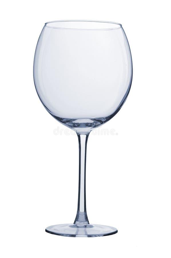Leeres Glas des Weins stockbild