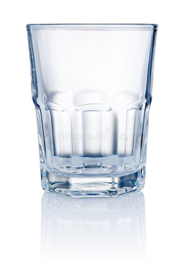 Leeres Glas lokalisiert auf weißem Hintergrund lizenzfreies stockbild