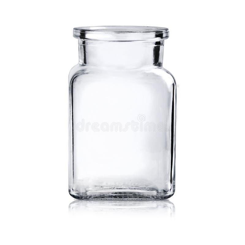 Leeres Glasglas stockfotografie