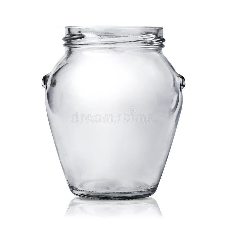 Leeres Glasglas stockfotos