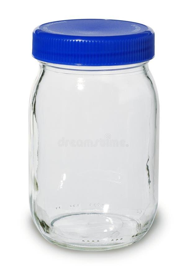 Leeres Glasglas stockbild