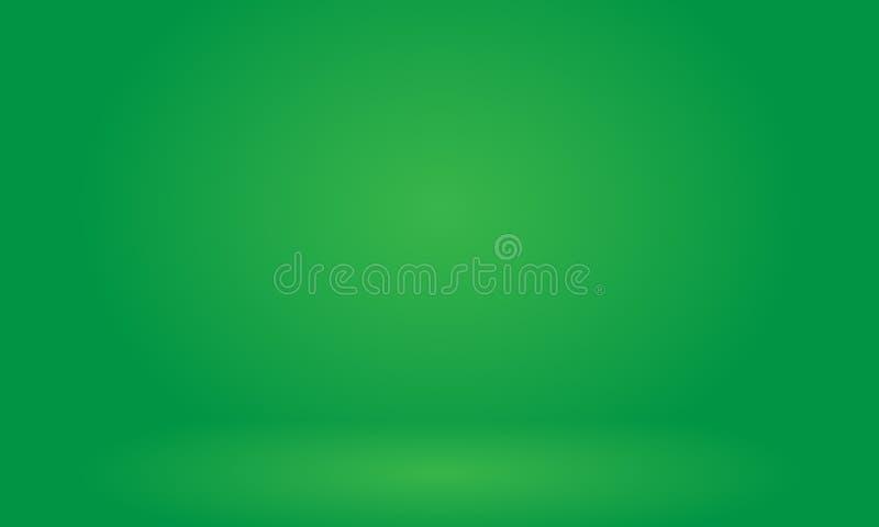 Leeres grünes Studio verwenden gut als Hintergrund, Hintergrund, digitale Schablone vektor abbildung