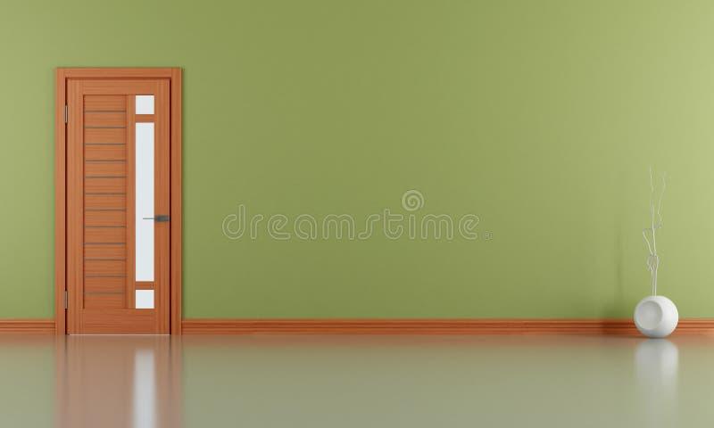 Leeres grünes Wohnzimmer stock abbildung