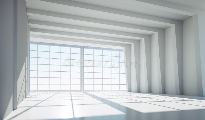 Leeres großes weißes industrielles Lager vektor abbildung