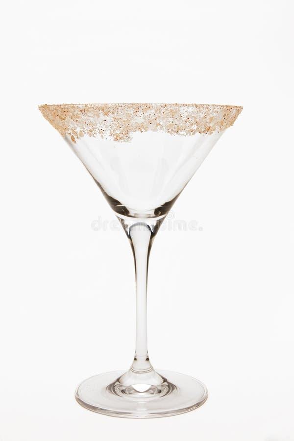 Leeres Martini-Glas lizenzfreie stockfotos