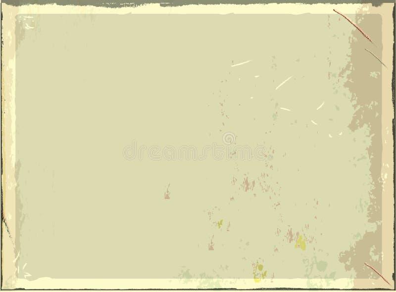 Leeres Metallschild der Weinlese für Text oder Grafiken Retro- leerer Hintergrund des Vektors lizenzfreie abbildung