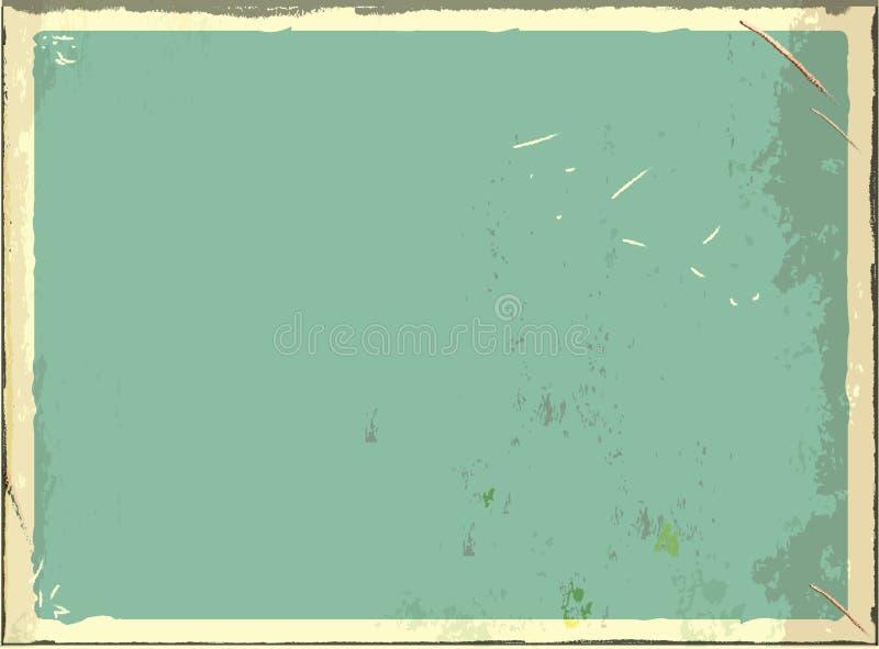 Leeres Metallschild der Weinlese für Text oder Grafiken Retro- leerer Hintergrund des Vektors Blaue Farbe lizenzfreie abbildung