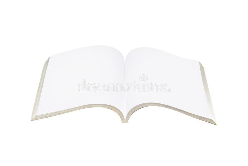 Leeres offenes Buch stock abbildung