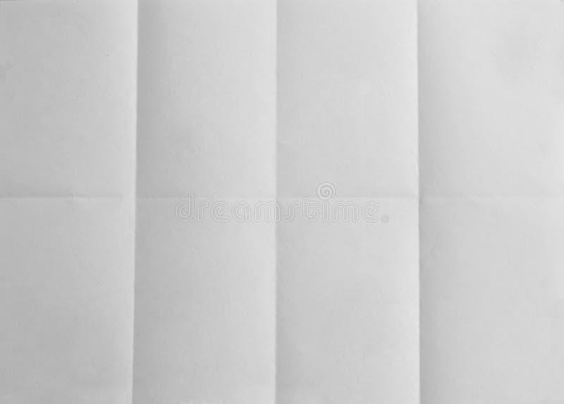 Leeres Papier faltete sich auf acht - Konzepthintergrund lizenzfreies stockbild