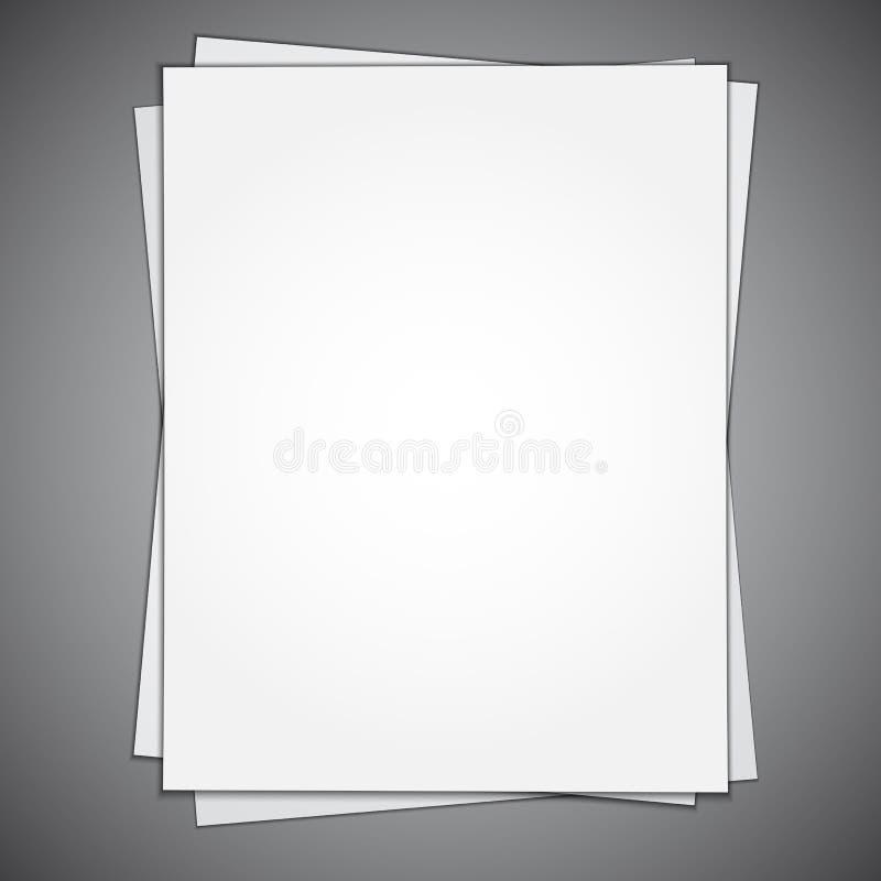 Leeres Papierblatt lizenzfreie abbildung