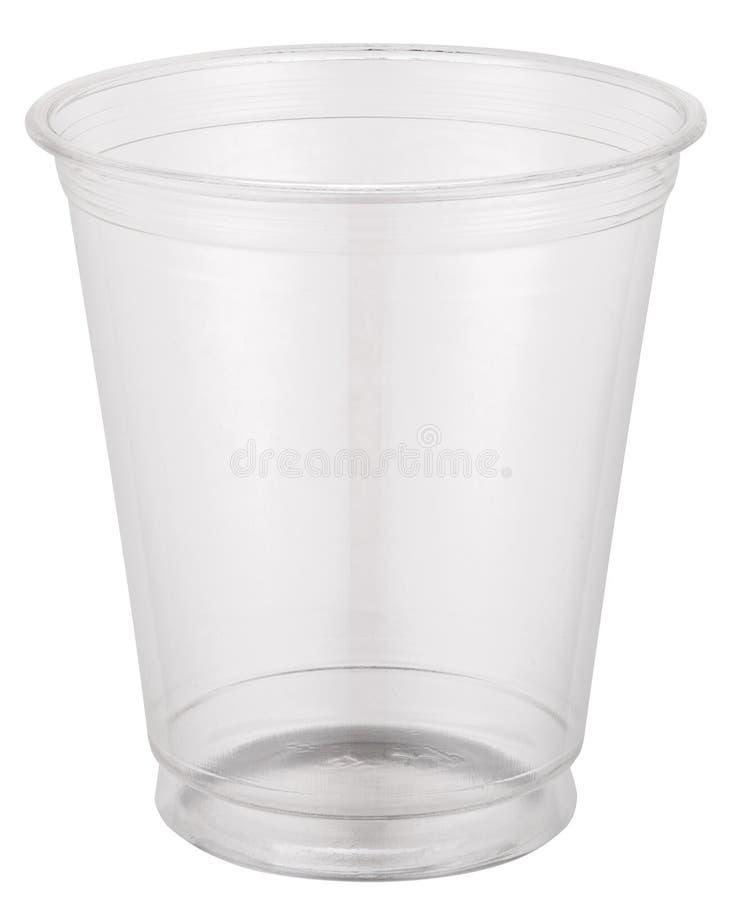Leeres Plastikcup lizenzfreies stockbild